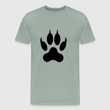 Pawprint Wolf pawprint - Men's Premium T-Shirt