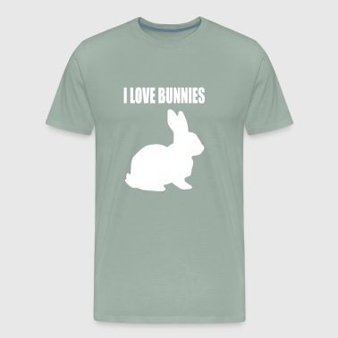 i love bunnies - Men's Premium T-Shirt