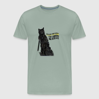 JP Shop funny hunter black cat t shirts hoodies - Men's Premium T-Shirt