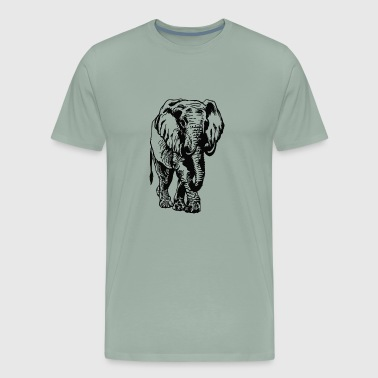 JP Shop elephant black t shirts Jackets hoodies - Men's Premium T-Shirt