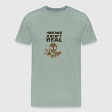 Kornkreise Aliens – Humans aren´t real - Men's Premium T-Shirt