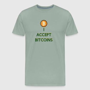 Microsoft I Accept Bitcoins - Men's Premium T-Shirt