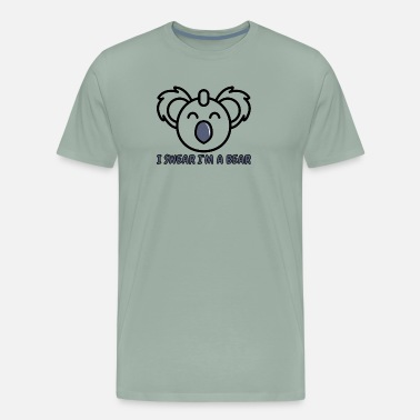 Date Of Birth I swear I'm a Bear - Men's Premium T-Shirt