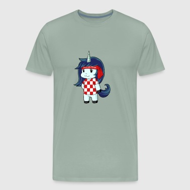 Croatia world champion unicorn - Men's Premium T-Shirt