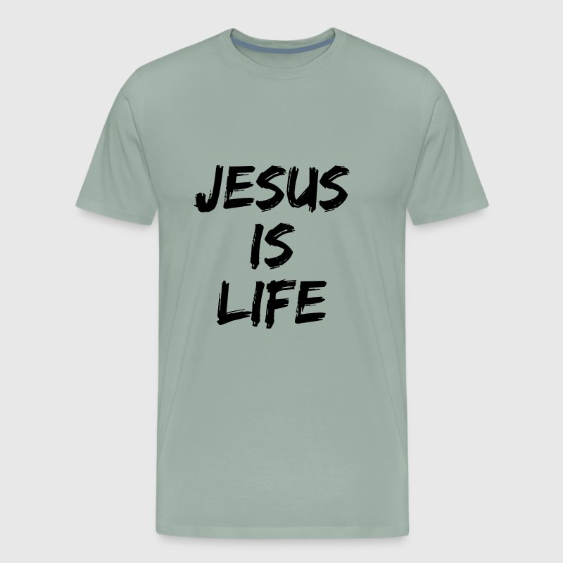 Jesus Is Life T Shirt - Men's Premium T-Shirt