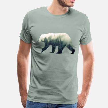 Forest Bear in the Forest - Men's Premium T-Shirt