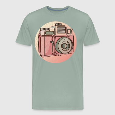 Cartoon Vintage photo camera vector image illustration art - Men's Premium T-Shirt