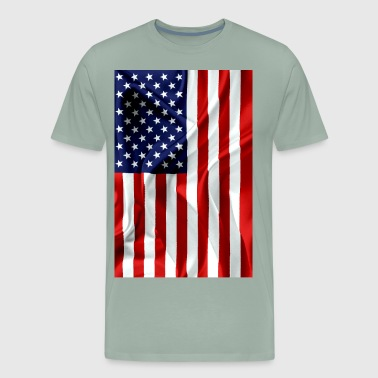 American USA Flag Vertical - Men's Premium T-Shirt