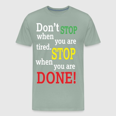 dontstop 01 - Men's Premium T-Shirt