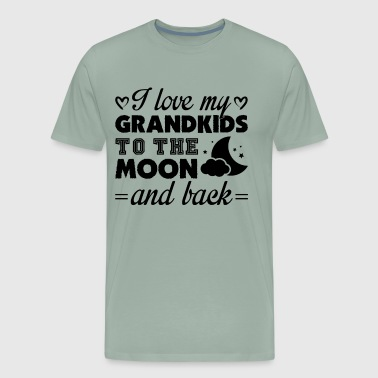 I Love My Grandkids To The Moon And Back Shirt - Men's Premium T-Shirt