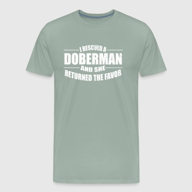 Cute I rescused a Doberman Dog - Men's Premium T-Shirt