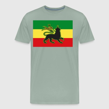 Rasta Flag with The Lion of Judah - Men's Premium T-Shirt
