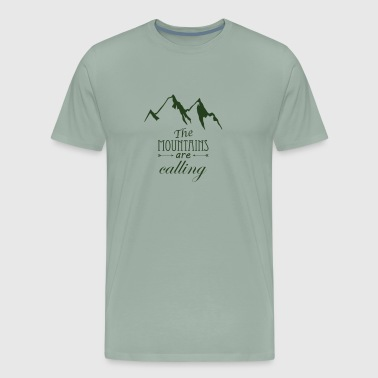 Mountains the mountains are calling - Men's Premium T-Shirt