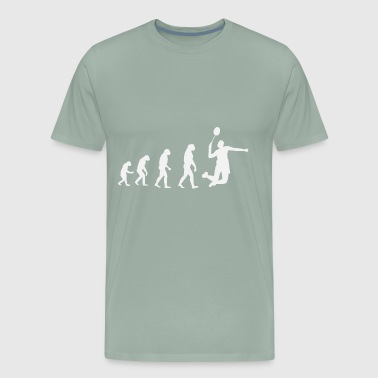 Badminton Evolution White - Men's Premium T-Shirt