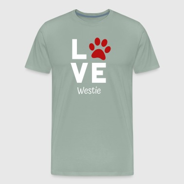 Paw Love Westie - Men's Premium T-Shirt