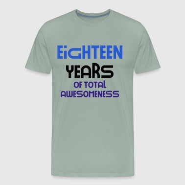 eighteen years of total awesomeness cute birthday gift idea b day present - Men's Premium T-Shirt