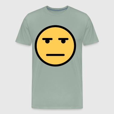 Smiley Face Whatever Annoyed Looing Face - Men's Premium T-Shirt