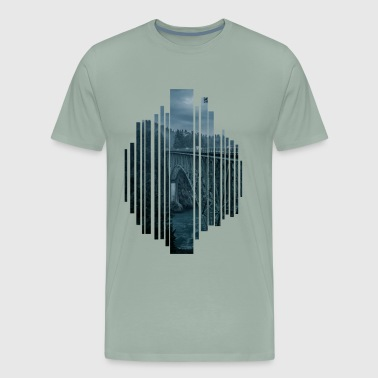 Bridge in the evening - Men's Premium T-Shirt