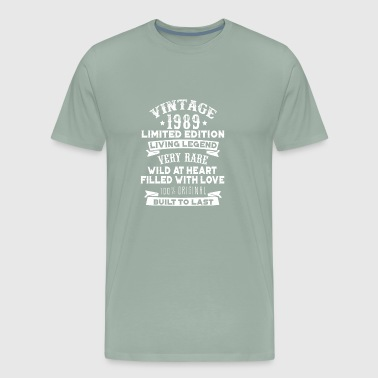 Vintaged 1989 Living Legend Built To Last - Men's Premium T-Shirt