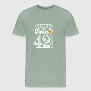 Cheers and Beers To 42 Years - Men's Premium T-Shirt
