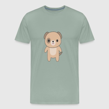 Cute Kawaii Brown Dog - Men's Premium T-Shirt