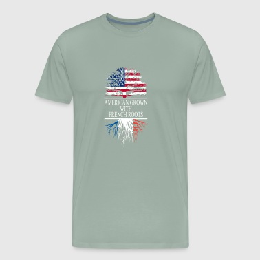 French Roots With A American Grown Tree - Men's Premium T-Shirt