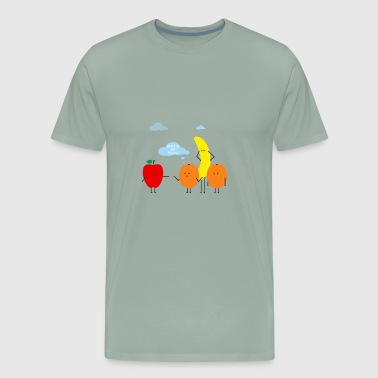 Funny Fruit Composition Comic Humor Situation - Men's Premium T-Shirt