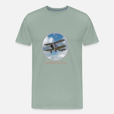 Biplane Vintage Biplane In The Clouds Life Is Better In Th - Men's Premium T-Shirt