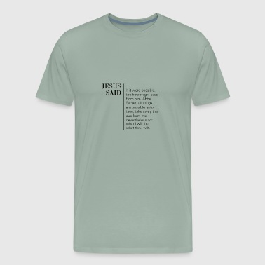 Mark 14:35-36 - Men's Premium T-Shirt