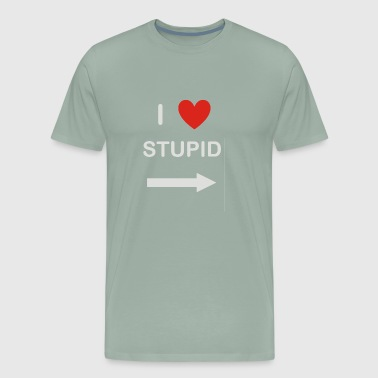 i heart stupid - Men's Premium T-Shirt