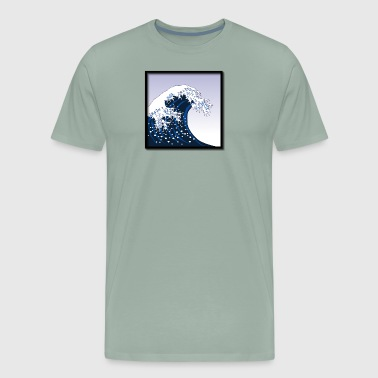 Woodblock Print The Great Wave off Kanagawa - Men's Premium T-Shirt
