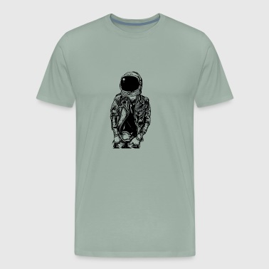 Streetpunk Astronaut Streetpunk. The coolest on the pitch! - Men's Premium T-Shirt