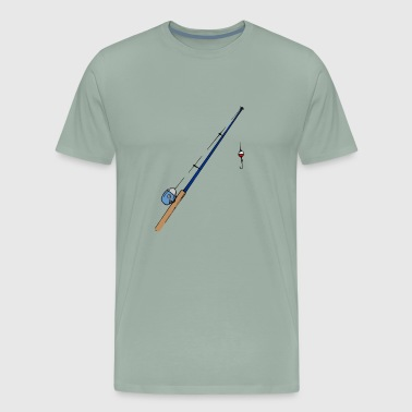 Fishing Rod Fisherman Hook Angler Angling Gift - Men's Premium T-Shirt