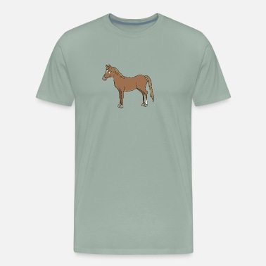 Brown Horse A brown horse - Men's Premium T-Shirt