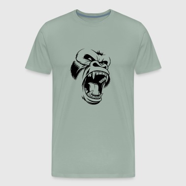Ferocious gorilla head - Men's Premium T-Shirt