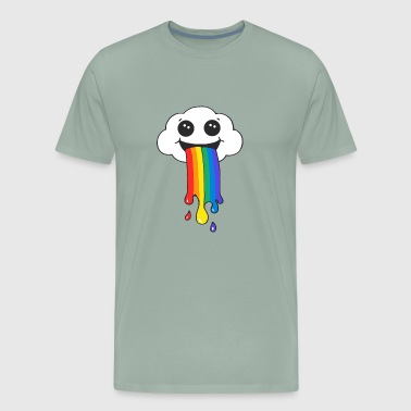Rainbow Clouds The rainbow is under the clouds - Men's Premium T-Shirt