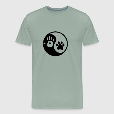 Yin Yang Dog And Human - Men's Premium T-Shirt