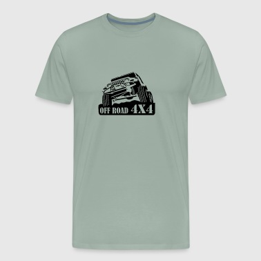 Off Road 4x4 Jeep - Men's Premium T-Shirt