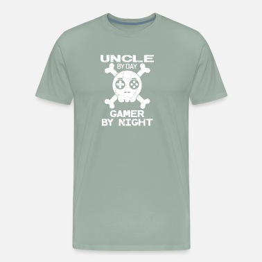 Gamer Uncle Uncle By Day Gamer By Night Gift - Men's Premium T-Shirt