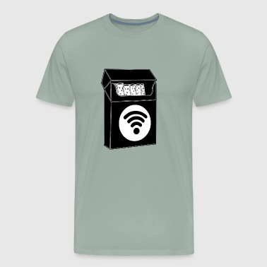 cigarette wifi - Men's Premium T-Shirt