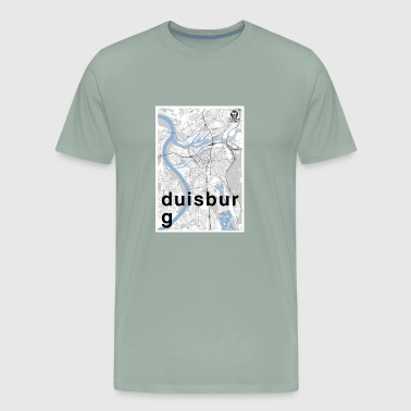 Duisburg hipster city map black/white - Men's Premium T-Shirt