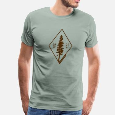 Michigan Tree - 1837 - Men's Premium T-Shirt