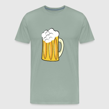 beer bier beverage barrel fass bottle flasche ale5 - Men's Premium T-Shirt
