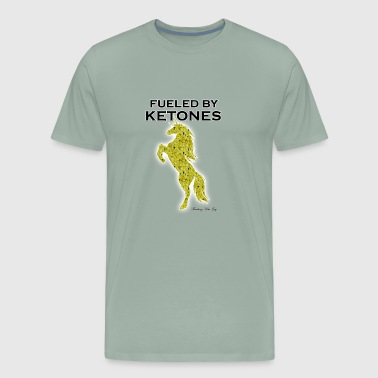 FUELED BY KETONES YELLOW SPECKLED UNICORN - Men's Premium T-Shirt