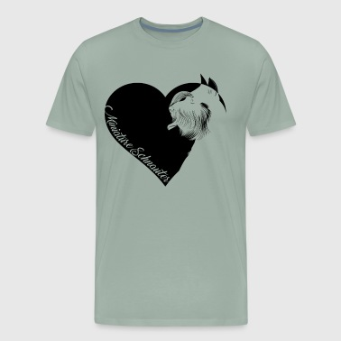 Love Miniature Schnauzers Shirt - Men's Premium T-Shirt