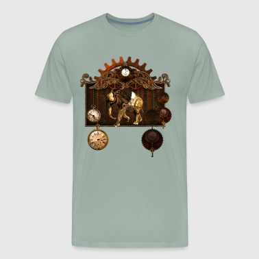 Steampunk elephant - Men's Premium T-Shirt