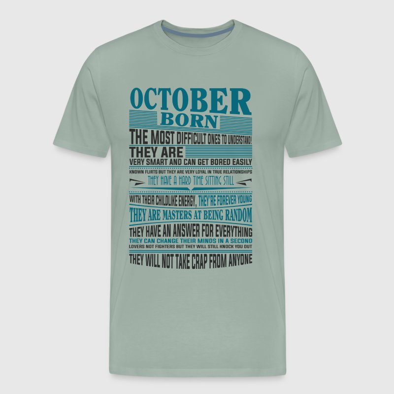 Best selling born in October present - Men's Premium T-Shirt