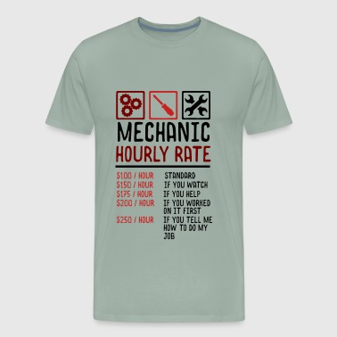 Mechanic Hourly Rate Red/Black - Men's Premium T-Shirt