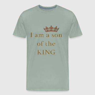 Son of the King Christian Saying Religious Quote - Men's Premium T-Shirt