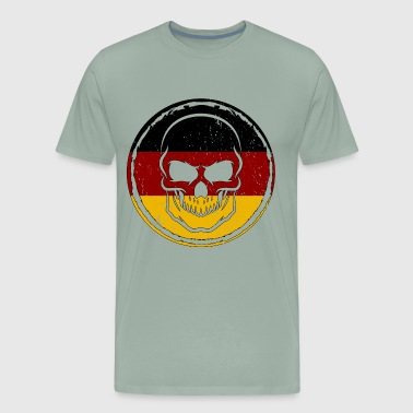 Germany Soccer Football Skull Gift idea - Men's Premium T-Shirt